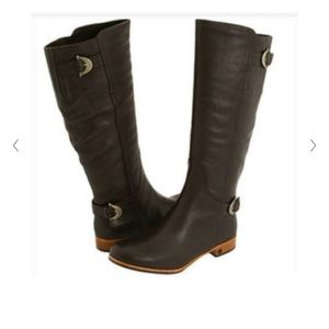 UGG tall brown leather boots Sz 7